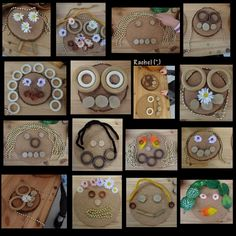 "Transient art faces at the Discovery Table from Rachel ("",)"