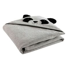 Plaid panda en coton 90 x 90 cm