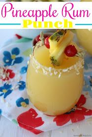 Pineapple Rum Punch Pineapple Rum Punch is the party punch of summer. It is like taking a trip to the tropics with one sip. An easy recipe to make for a crowd. Punch Recipe For A Crowd, Rum Punch Recipes, Alcohol Drink Recipes, Food For A Crowd, Rum Recipes, Orange Recipes, Milk Recipes, Cake Recipes, Southern Comfort