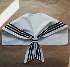 Sailor collar - organic cotton Sailor Collar, Organic Cotton, Sewing, Ideas, Dressmaking, Couture, Stitching, Sew, Thoughts