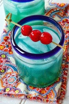 Tropical Dream Drink Recipe | Katie's Cucina- looks so goooooood. blue drinks are always tasty..
