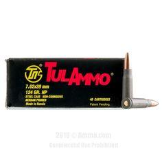 TulAmmo 7.62x39 Ammo - 1000 Rounds of 124 Grain HP Ammunition #762x39 #762x39Ammo #Tula #TulAmmo #Tula762x39 #HPAmmo