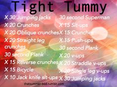 thatsummer-bod:  Tight Tummy Workout