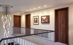 Internal walnut doors Ref: Contemporary Internal Doors, Contemporary Garage Doors, Modern Front Door, Front Door Design, Contemporary Home Decor, Unique Home Decor, Modern Garage, Gate Design, Interior Barn Doors