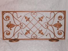 Wall Grill French metal Candle Holder