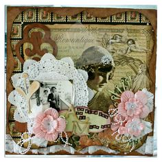 Shabby chic handmade card
