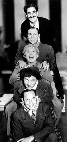 The Marx Brothers ~ From the top down: Groucho, Gummo, Harpo, Chico, Zeppo