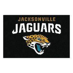 Jacksonville Jaguars 19 in. x 30 in. Accent Rug, Team Colors