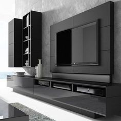 khayalam' – Welcome Tv Unit Modern Tv Room, Modern Tv Wall Units, Modern Living, Tv Console Modern, Living Room Wall Units, Living Room Tv Unit Designs, Wall Unit Designs, Tv Wall Design, Modern Tv Unit Designs