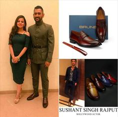 Here is another image of captain cool M S Dhoni with his wife Saakshi Rawat wearing #brune slipons. #brunebrand #MSDhoniTheUntoldStory