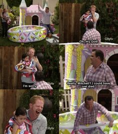Modern Family Season 1 Cam falls in baby pool Modern Family Season 1, Modern Family Funny, Modern Family Quotes, Family Love, Funny Facts, Funny Memes, Hilarious, Tv Show Quotes, Movie Quotes