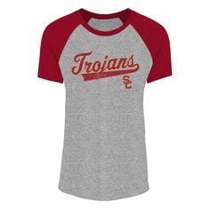 Usc Trojans Women s Sharon Gray Raglan Scoop Neck T-Shirt XS Gender  Unisex. e616a759a1