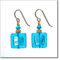 Aqua Sparkler Earrings - Marco Polo Designs