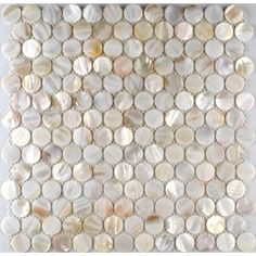 Oyster Shell Tile. Great for the bathroom :)
