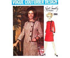 60s SYBIL CONNOLLY Asymmetric Coatdress by allthepreciousthings