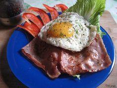 Tomek gotuje: Jajko sadzone na szynce / Tom cooks: Sunny-side up fired egg with ham