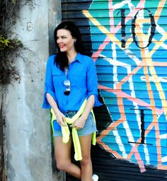 Neon and colour love -- pop something colourful on and you could win a trip to Sydney with Dove! :: Fox In Flats
