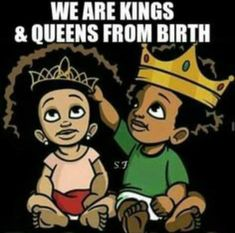 """Literally just told my boyfriend this as he constantly called our daughter """"princess"""" I said """"nahh you refer to her as Queen! Black Love Art, Black Girl Art, Black Is Beautiful, Black Girl Magic, Black Girls, Black Power, Black Art Pictures, Black Artwork, Afro Art"""