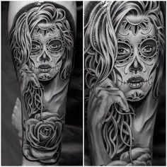 tatuajes brazo mujer blanco y negro - Buscar con Google