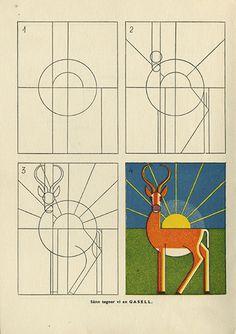 Hans Hauger vintage drawing book
