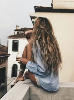 Oversized Shirt, Wine Glass And Roof Terraces
