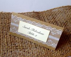 Wedding Place Cards, Lace, Ivory, Simple, Placecards on Etsy, $1.25