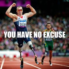 NO EXCUSES. Get to the gym, hit the track, get on your bike, hit the slopes. This is true #inspiration and #motivation for anyone who wants to get fit and achieve athletic goals! #paralympics #ulift #liftagsport #fitness #fitfam #sports