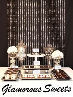 Black, White & Silver Glamourous Holiday Party! - Kara's Party Ideas - The Place for All Things Party