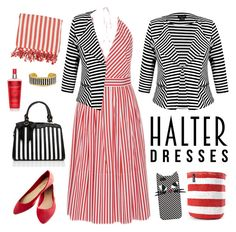 stripes by blumberg on Polyvore featuring polyvore, fashion, style, MDS Stripes, City Chic, Wet Seal, Évocateur, Lulu Guinness, clothing and halterdresses