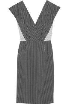 Roland Mouret Indus stretch cotton-blend dress | incredibly flattering! pair with tonal sandals