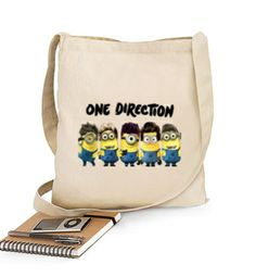 Bolsa One Direction Minions Bandolera