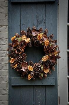 Gardening Autumn - Kym Porknoy recommends James Farmer's Wreaths for all Seasons in her Top 10 for the garden - With the arrival of rains and falling temperatures autumn is a perfect opportunity to make new plantations Fall Crafts, Christmas Crafts, Christmas Decorations, Christmas Ornaments, Christmas Garden, Christmas Door, Christmas Ideas, Xmas Wreaths, Autumn Wreaths