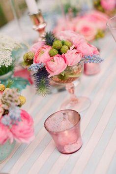 Vintage Wedding Find: Pink Depression Glass | Intimate Weddings - Small Wedding Blog - DIY Wedding Ideas for Small and Intimate Weddings - R...