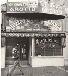"""The celebrated Goodfellow's Grotto at 4th and Main Streets  was, at the time of its closing in 1953, the city's oldest restaurant. In """"The Kept Girl,"""" Raymond Chandler meets his policeman friend Tom James here to share their discoveries in the Great Eleven investigation.    Photo: Bruce H. Cox / Los Angeles Times"""