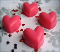 Bleeding Heart    Strawberrys and cream jello shot with a touch of rose flavoring, filled with chocolate syrup.