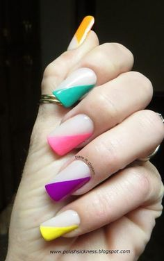 -- Love these! Neon nails.