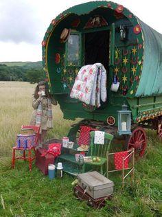romanesque gypsy caravan