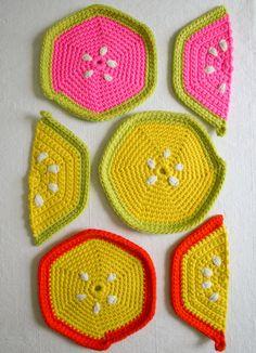 https://flic.kr/p/fi4eRt | Fruity Trivets in Super Soft Merino! | Find the free pattern right here: thepurlbee.com/the-purl-bee/2013/7/28/super-soft-merino-f...