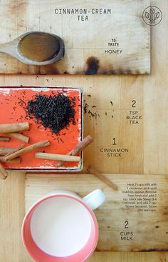 Cinnamon cream tea!! This website is a must for tea lovas Joseph Wesley Black Tea - Recipes