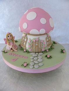 More in my website Fairy Toadstool Cake . Fairy Toadstool Cake More Designer Cakes. Fairy Birthday Cake, 3rd Birthday Cakes, Garden Birthday, Birthday Ideas, Fairy House Cake, Fairy Garden Cake, Toadstool Cake, Mushroom Cake, Cake Candy
