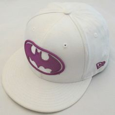 Batman New Era Ball Fitted Hat 7 1 2 Purple Logo DC Comic 59Fifty 5950  White  NewEra  Fitted 5053d3b80e46