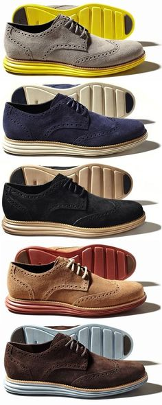 I love these color combo shoes for men.