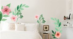 Bonjour printemps 🌿🌸 Home Decor, Hello Spring, Wall Decals, Home Decoration, Color, Flowers, Interior Design, Home Interior Design, Decoration Home