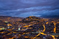 Quito, Ecuador, by dusk. Wake up to a whole new world. #VolunteerAbroad