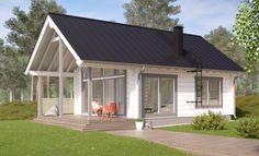 Modern Barn House, Modern House Design, Modern Houses, Small Houses, Small Modern Home, Beach Cottage Style, Log Homes, Tiny Homes, Farmhouse Plans