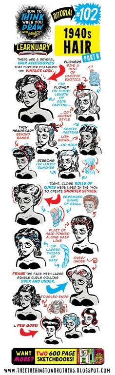 #102 1940s Hair B
