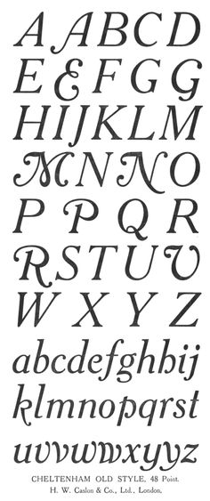 Henry Caslon, typography, design, lettering, alphabet, type, curly, traditional