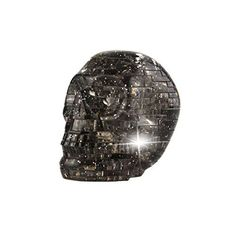Coolplay DIY 3D Crystal Puzzle with Flash Light Model Building Toy- Skull Grey