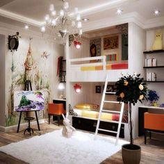 One of the coolest kids rooms I've ever seen - Etagenbetten der Kinder in einer Nische einbauen
