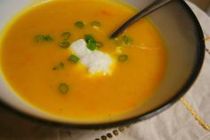 Season With Love: Butternut Squash Soup with Ricotta